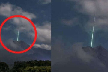 Guy Clicks Rare Green Meteor Pic As It Crashes Perfectly Into A Volcano
